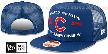 Cubs 'CHAMPIONS TRUCKER SNAPBACK' Royal Hat by New Era