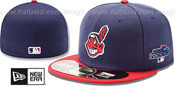 Indians '2013 POSTSEASON' HOME Hat by New Era