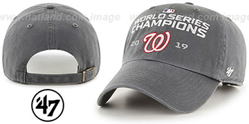 Nationals WORLD SERIES CHAMPIONS 'CLEAN-UP STRAPBACK' Grey Hat by 47 Brand