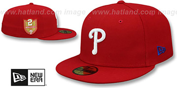 Phillies 'GOLDEN-HIT' Red Fitted Hat by New Era
