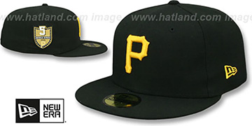Pirates 'GOLDEN-HIT' Black Fitted Hat by New Era