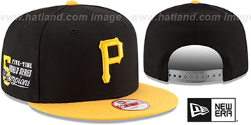 Pirates 'MLB STAR-TRIM SNAPBACK' Black-Gold Hat by New Era