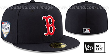 Red Sox '2018 WORLD SERIES' GAME Fitted Hat by New Era