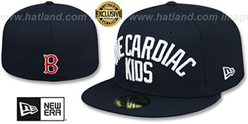 Red Sox 'CARDIAC KIDS' Navy Fitted Hat by New Era