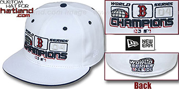 Red Sox 'WS CHAMPS SCOREBOARD' White Fitted Hat by New Era