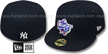 Yankees 1999 'CHAMPIONS PATCH' Navy Fitted Hat by New Era