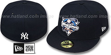 Yankees 2000 'CHAMPIONS PATCH' Navy Fitted Hat by New Era