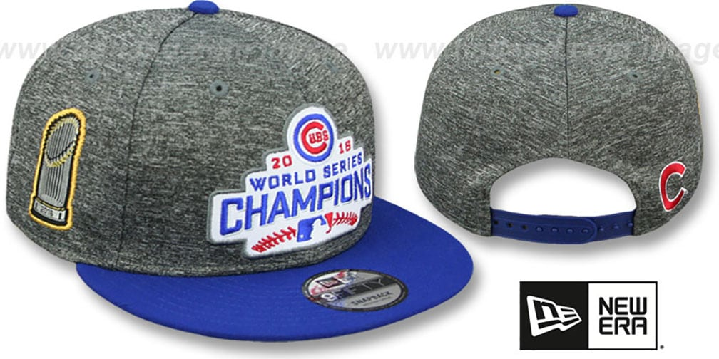462bc3997ea39d Cubs '2016 WORLD SERIES CHAMPS PATCH SNAPBACK' Grey-Royal Hat by New Era