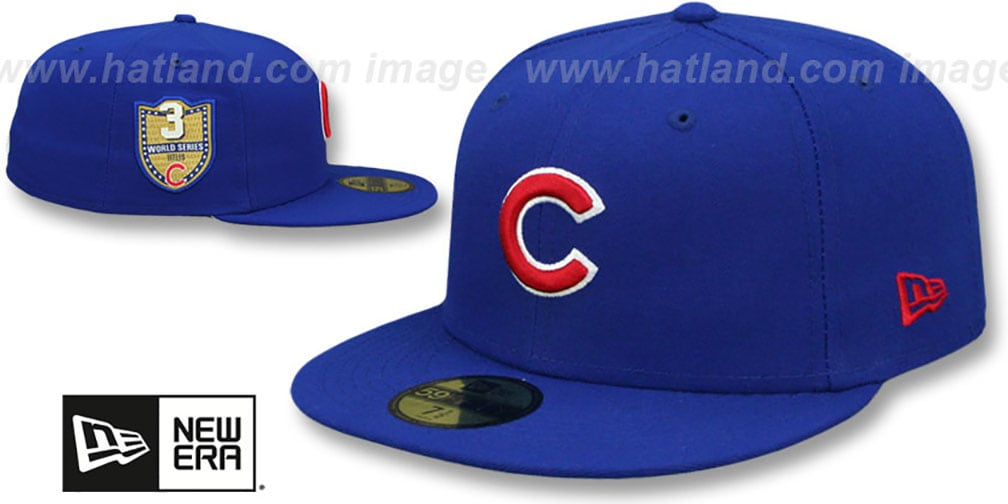 cubs golden hit royal fitted hat by new era